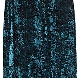 H&M Crushed-velvet Maxi Dress Dark turquoise ($50)