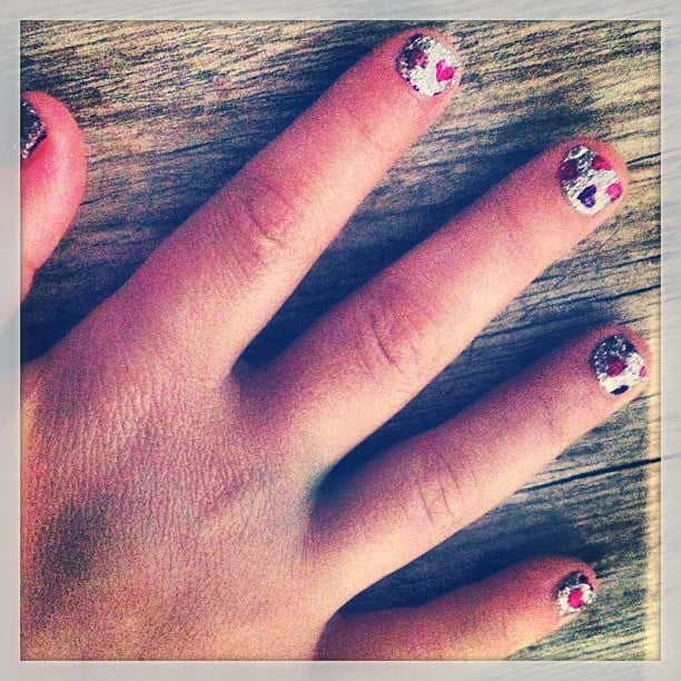 Nicole Richie shared this snap of daughter Harlow's manicure. Source: Instagram user nicolerichie