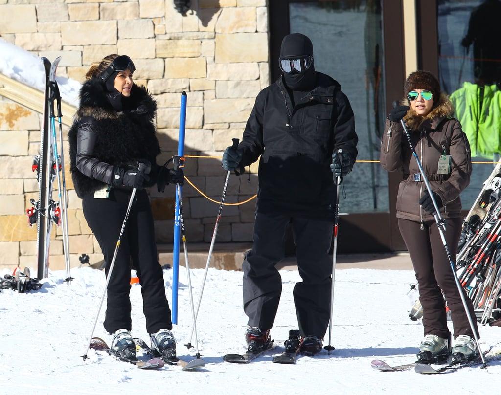 Kim, Kanye, and Kourtney hit the slopes in Park City together.