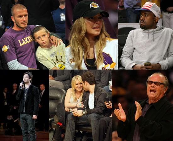 Photos of Celebrities at NBA Finals in LA
