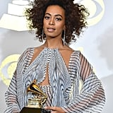 Solange's Mocha-Hued Spirals at the Grammys in 2017
