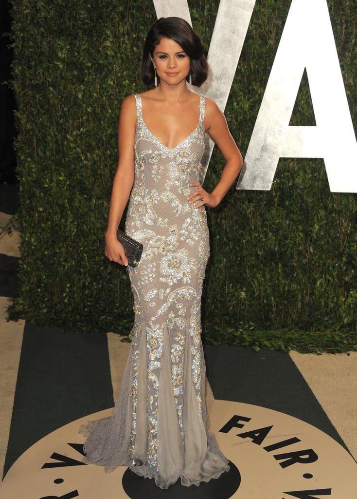 Selena Gomez at the Vanity Fair party.