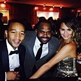 A gorgeous Chrissy Teigen shared a picture during the Grammy Awards. Source: Instagram user chrissyteigen