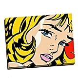 Panther Print Roy Lichtenstein Girl Pop Art Print