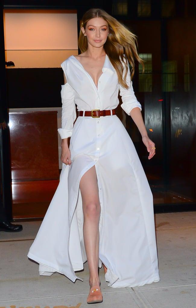 Gigi Hadid Wearing All White