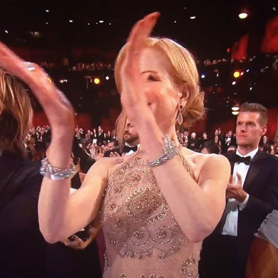 Nicole Kidman Clapping at the 2017 Oscars