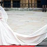 When She Chose a Custom Sarah Burton For Alexander McQueen Wedding Gown