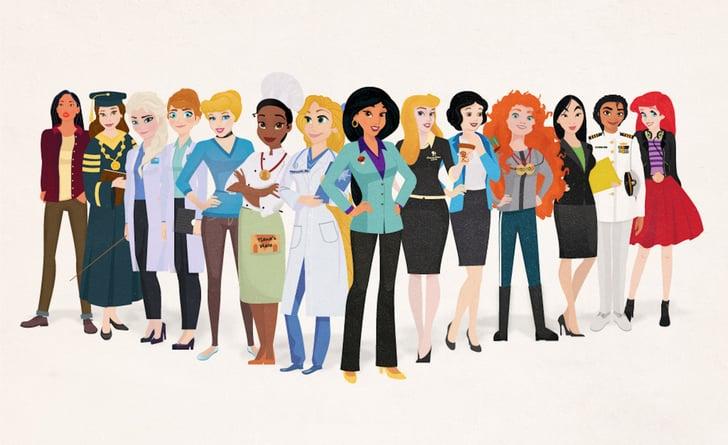 Disney Princesses As Career Women Popsugar Love Sex