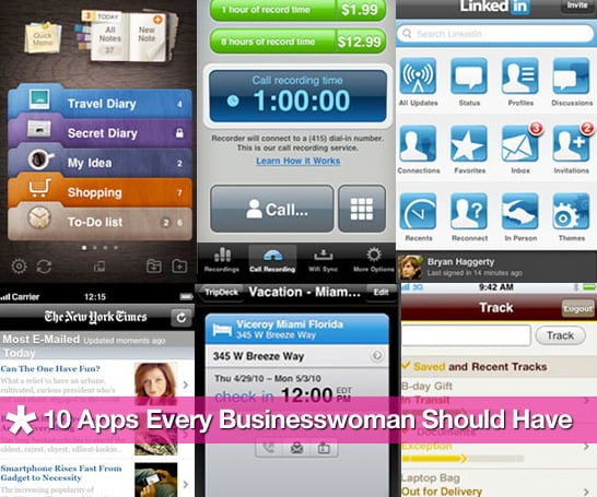 10 Apps Every Businesswoman Should Have