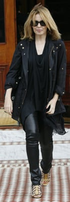 Kylie Minogue Wears Leather Pants
