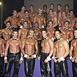 Chippendales was the first all-male stripping group to make a business performing for mostly female audiences. Here's the group in 2002 posing for a calendar shoot.