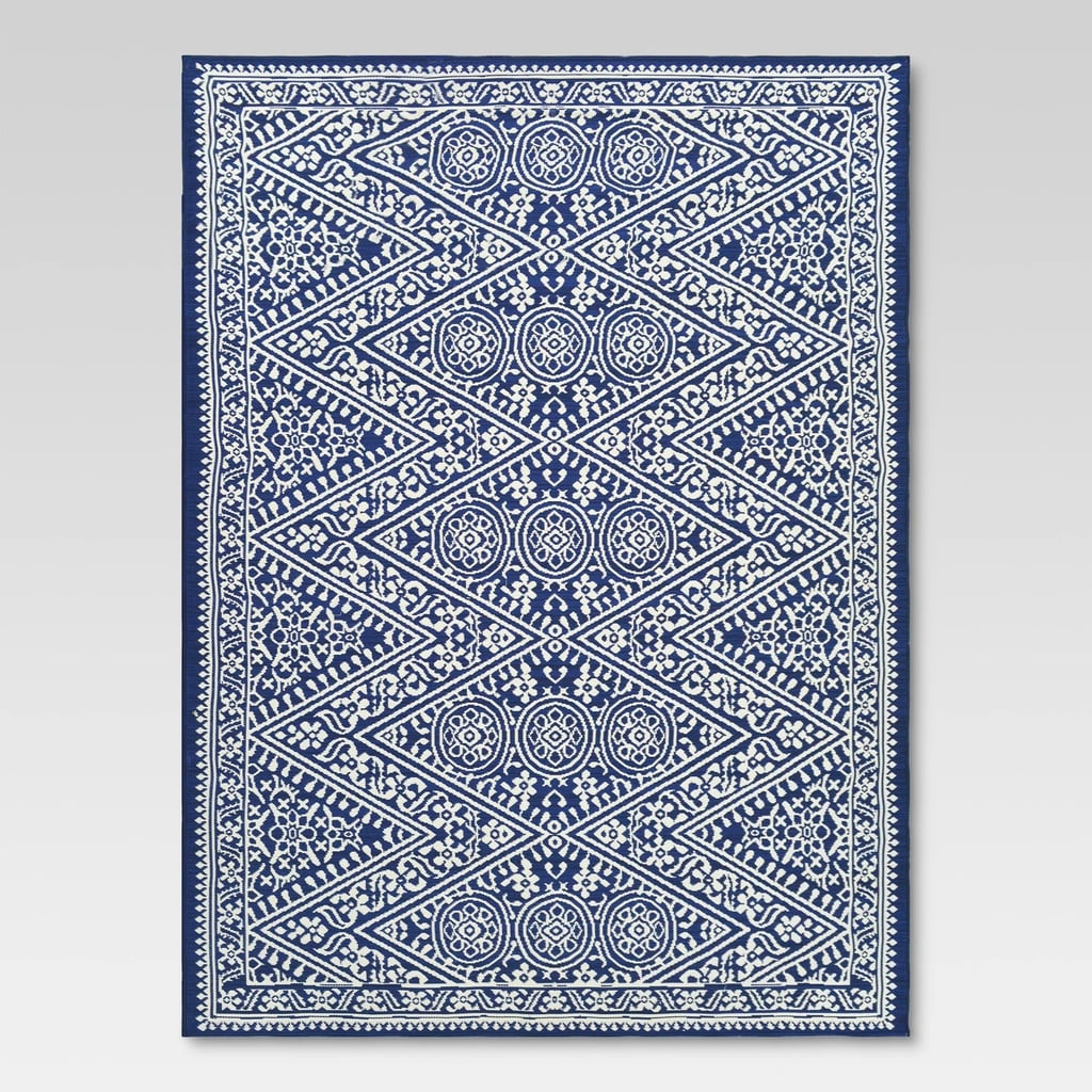 Tapestry Blue Outdoor Rug