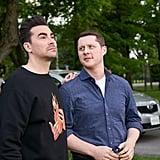 David Rose's Off-White Flame Sweatshirt During Part 1 of the Schitt's Creek Series Finale