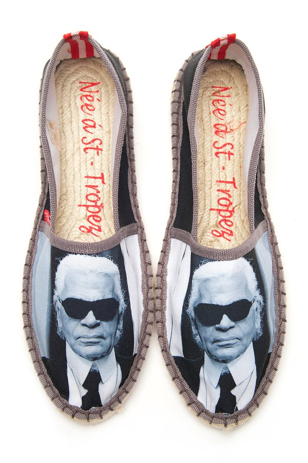 These L'Espadrille Tropézienne Karl espadrilles ($108) were made for the ultimate Lagerfeld fan.