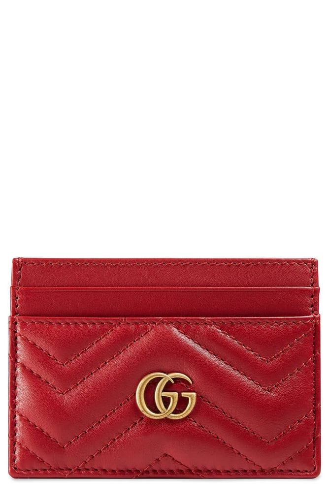 b0896798c2efc3 Gucci GG Marmont Matelassé Leather Card Case | Best Gucci Gifts ...