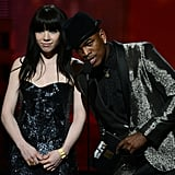 Carly Rae Jepsen and Ne-Yo presented together.