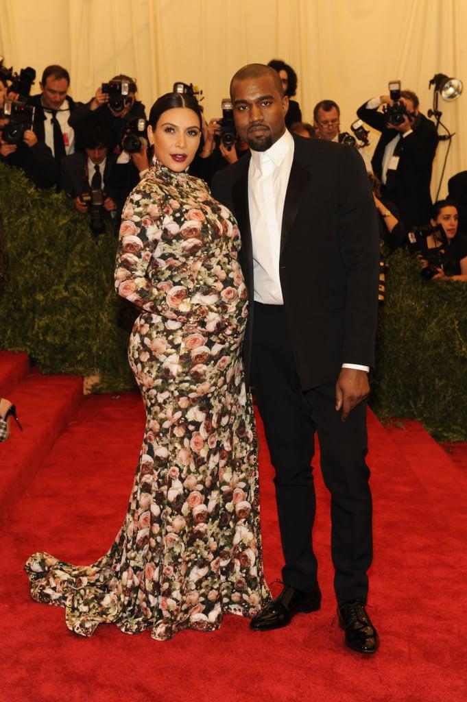 Kim Kardashian and Kanye West at the 2013 Met Gala