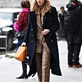 Winter Outfit Idea: A Plaid Suit and Classic Coat