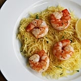 Roasted Shrimp Over Spaghetti Squash