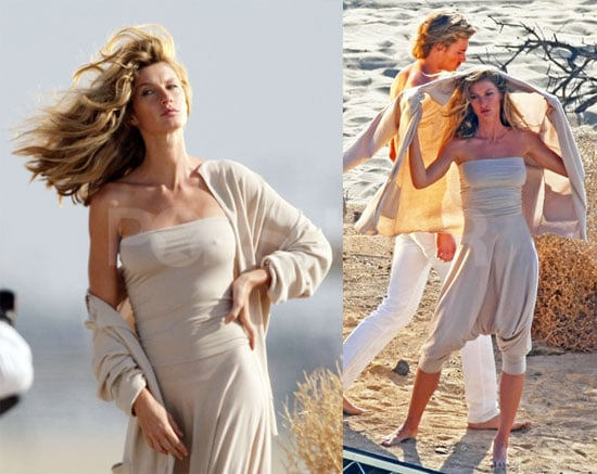 Photos of Gisele Bundchen at A Photo Shoot, Tom's Friends Shoot Down Marriage Rumors