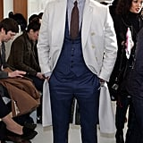 David Gandy at the Richard James London Men's Fashion Week show.
