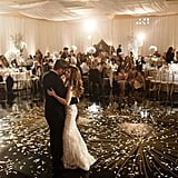 Sprinkle the dance floor with silver and gold confetti.