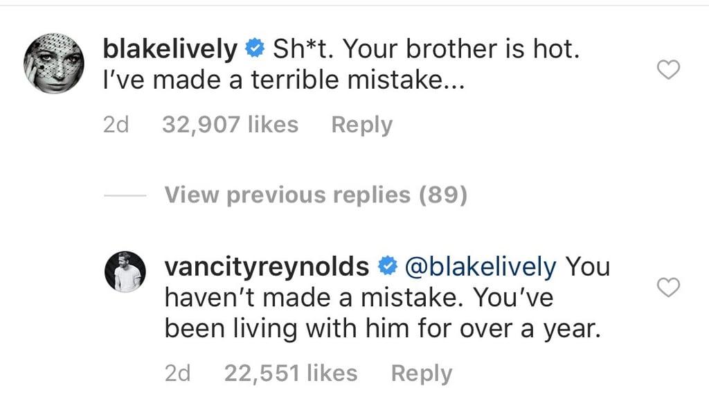 Ryan Reynolds Trolls Blake Lively on Instagram June 2018
