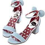 Minnie Mouse Heels in Denim ($48)