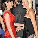 Carla Gugino and Naomi Watts enjoyed each other's company at the 2012 Tribeca Ball in NYC.