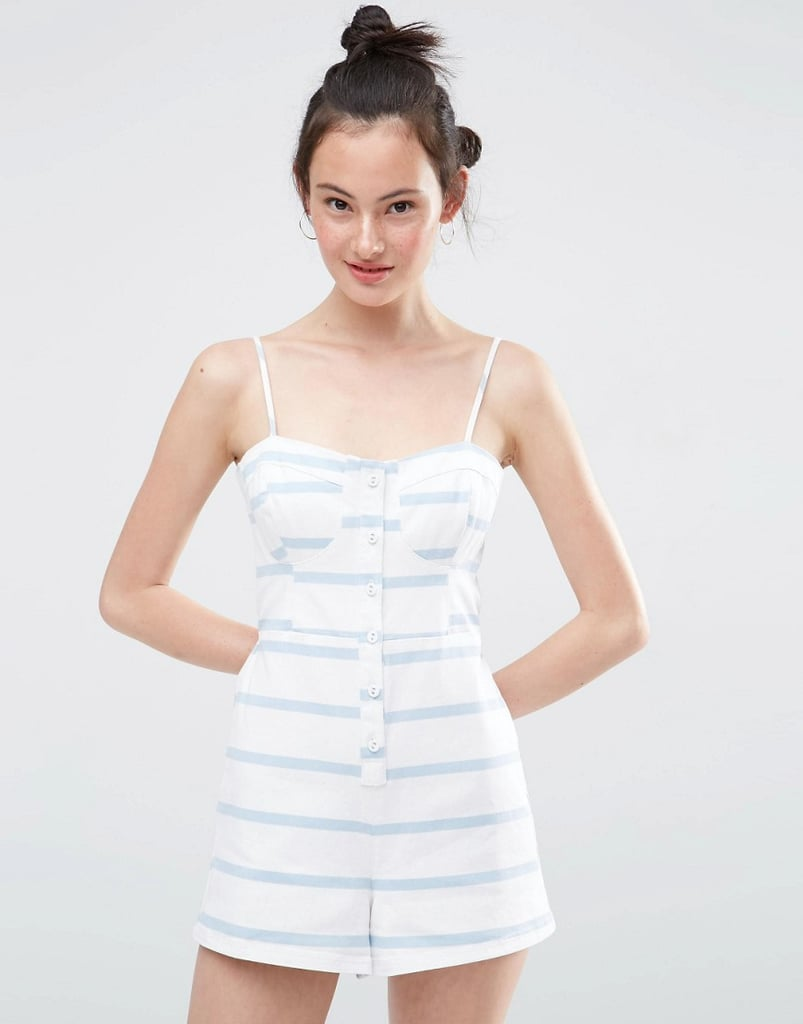 ASOS Retro Cami Romper in Stripe ($57)