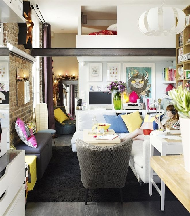 Of the apartment's vivid color scheme, lonore told Ikea's Family Live  magazine that her training