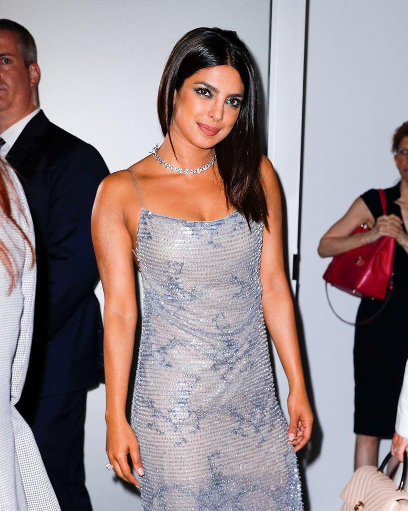 454302042e7c Priyanka Chopra s Giorgio Armani Dress October 2018