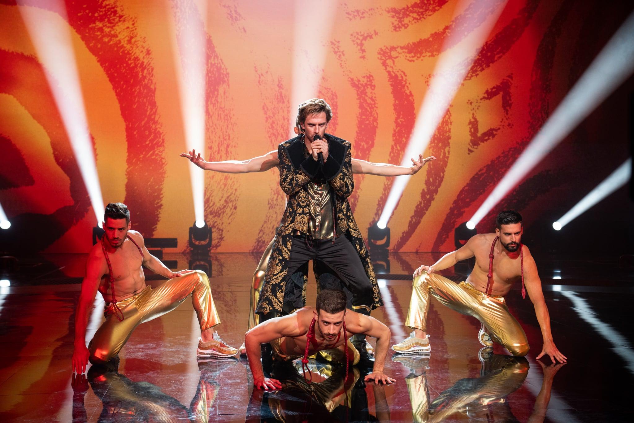 EUROVISION SONG CONTEST: The Story of Fire Saga - Dan Stevens as Alexander Lemtov. Credit John Wilson/NETFLIX  2020