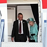 Queen Elizabeth II Pictures Landing in Canberra For Australia Tour