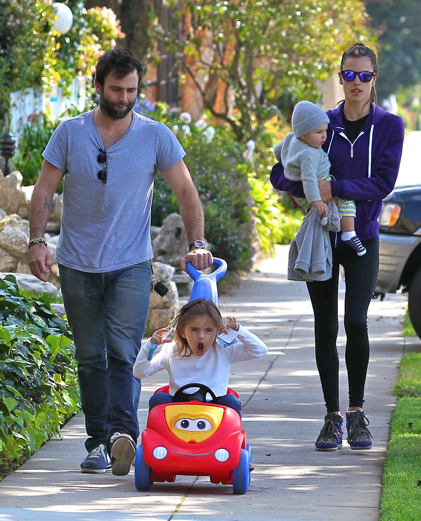 Alessandra Ambrosio and Jamie Mazur logged family time with Anja and Noah.