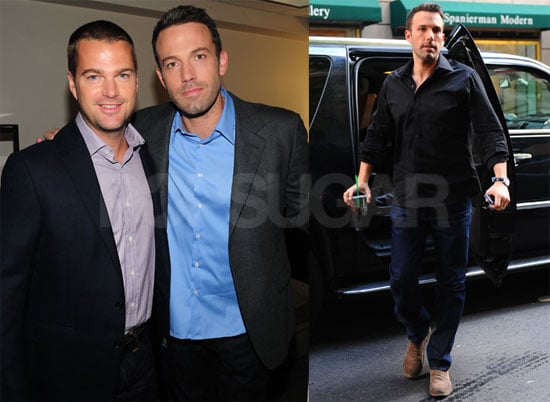 Pictures of Ben Affleck and Chris O'Donnell at The Early Show in NYC