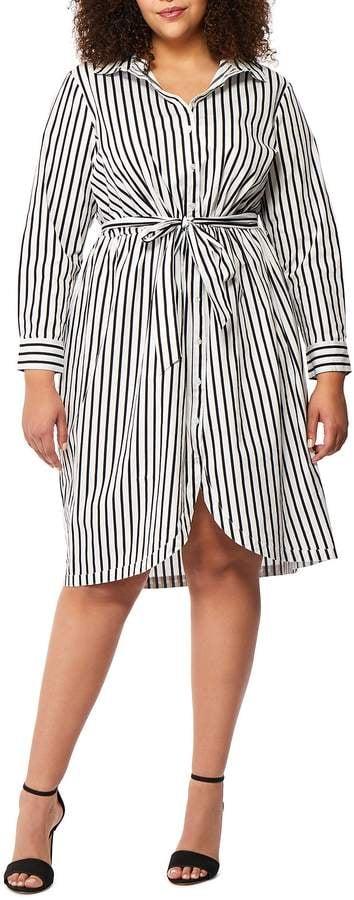 Rebel Wilson X Angels Stripe Shirt Dress