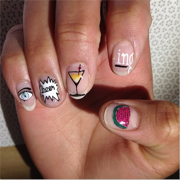 Beyonc Lyrics Best Spring 2014 Nail Art Of Instagram Popsugar