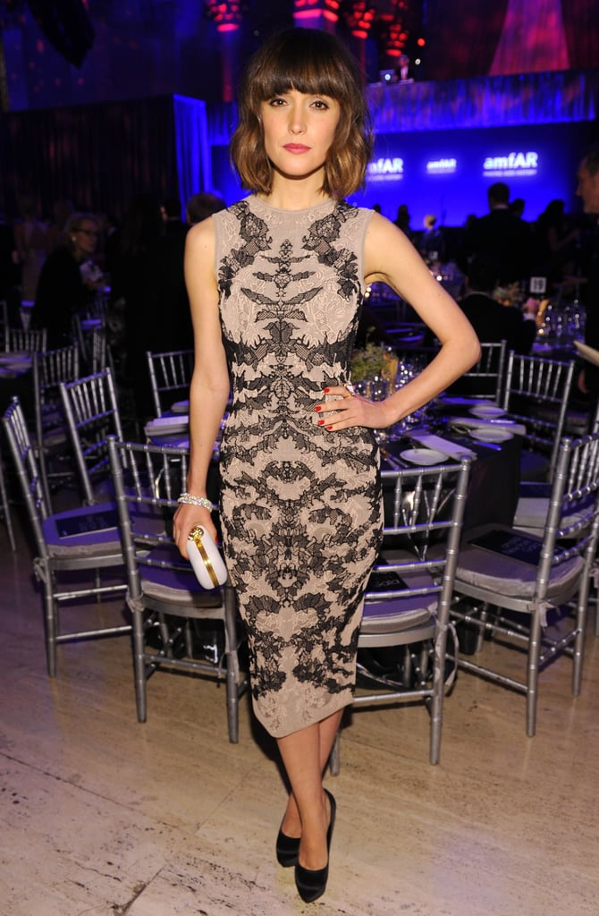 Rose Byrne wore Alexander McQueen to the amfAR bash.