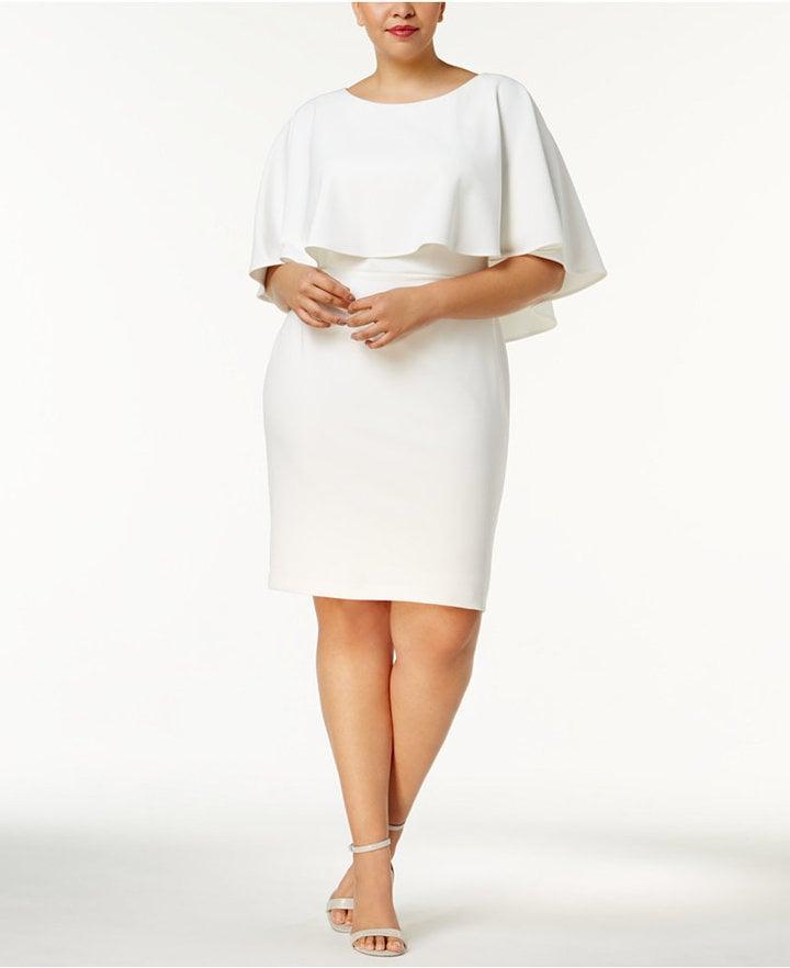 b4116472d78f Calvin Klein Plus Size Popover Crepe Dress