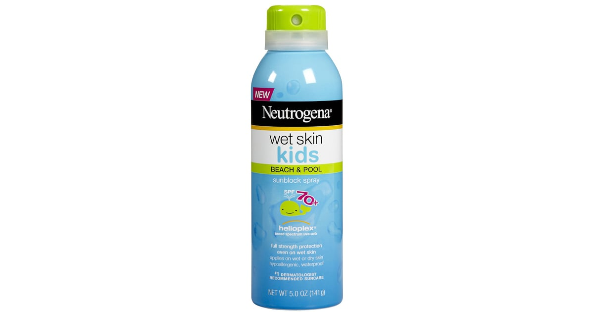 Neutrogena Wet Skin Kids Beach & Pool Sunscreen Spray, SPF 70+