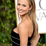 Stacy Kiebler arrived at the Golden Globes with beau George Clooney.