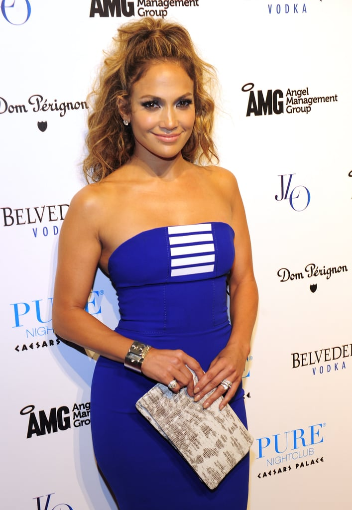 Jennifer Lopez's Blond Highlights in 2012