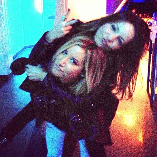 Ashley Tisdale monkeyed around with a pal. Source: Twitter user ashleytisdale