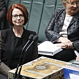 Julia Gillard during question time at Parliament House on June 26, 2013 in Canberra.