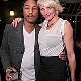 Cameron Diaz cozied up to Pharrell Williams.