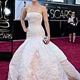 Jennifer Lawrence at the 2013 Academy Awards