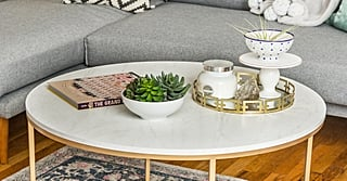This $117 Marble Coffee Table Is the Most Expensive-Looking Piece in My Living Room