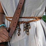 A double-strung leather braided belt is the perfect boho cincher.