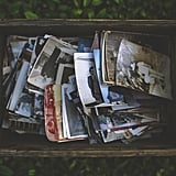 Organize old photos into an album.